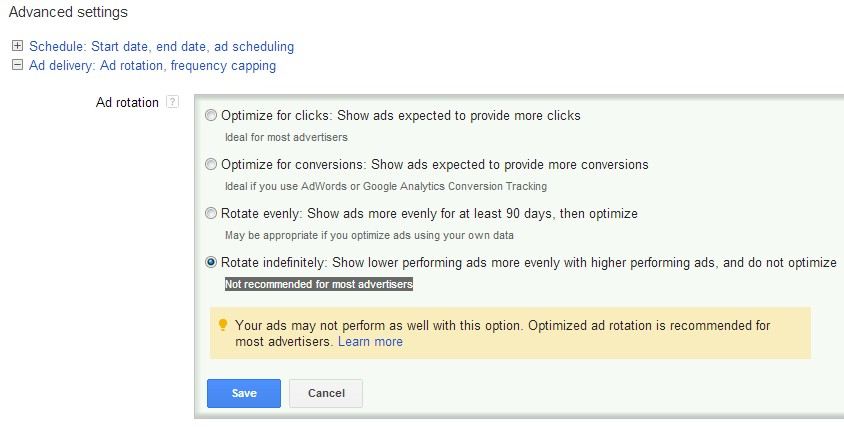 Ecommerce PPC TIps for Ad Rotation